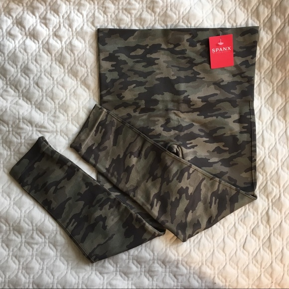 14352188a74f SPANX Pants | Restocked Nwt Sage Camo Cropped Leggings | Poshmark